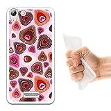 WoowCase Wiko Selfy 4G Hülle, Handyhülle Silikon für [ Wiko Selfy 4G ] Pfaufeder Handytasche Handy Cover Case Schutzhülle Flexible TPU - Transparent