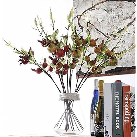 GWZ,Frutta del melograno di fiore artificiale, serie High-end casa frutta decorativa LINXIANBISHUIYIYUAN