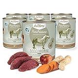 AniForte ® PureNature Ranch Horse – Cavallo con Patate Dolci & Mele 6 x 800 g di Cibo Umido Senza Cereali, Prodotto Naturale per Cani