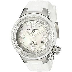 Swiss Legend 11844D-WWSA - Reloj de cuarzo para mujer, con correa de silicona, color blanco