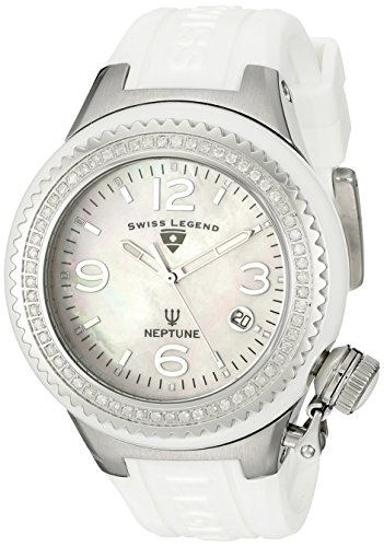 Swiss Legend sl-11844d-wwsa – Ladies Watch – Analogue Quartz – Beige Dial – White Silicone bracelet