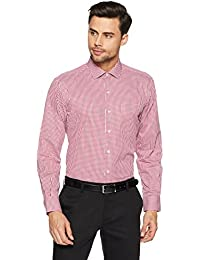 John Players Men's Plain Loose Fit Cotton Formal Shirt
