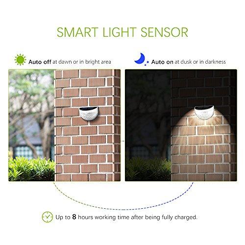 vente 4 pack eclairage solaire eclairage exterieur sans fil topelek 6 led lampe solaire. Black Bedroom Furniture Sets. Home Design Ideas
