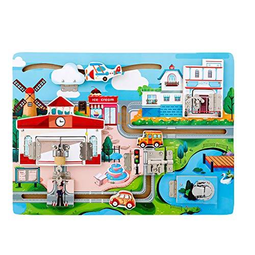 Hffan Kind Entsperren Spielzeug Erkenntnistafel Spielzeug Schrauben Puzzle Spielzeug Steckspiele Werkzeuge Spielzeug Baby Spielzeug Lernspielzeug für Kinder ab 3 Jahren