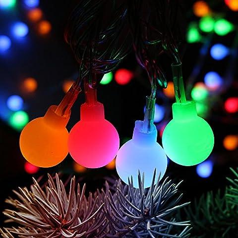 LED Lichterketten, Furado Wasserdicht LED Globe Lichterkette, Party Lichterkette, Lichterketten Weihnachten, Lichterkette Helloween, 100 LED Lichterkette Bunt, 10M Mehrfarbig 8 Modi mit Memory-Funktion RGBY IP44 für Innen Außen Balkon Terrasse Biergarten oder Party Weihnachten Dekolampe