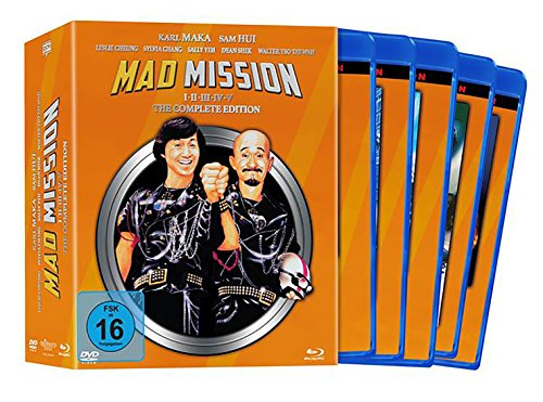 Mad Mission - The Complete Edition Teil 1-5 (9 BDs + 9 DVDs) - limitiert auf 500 Stück [Blu-ray]