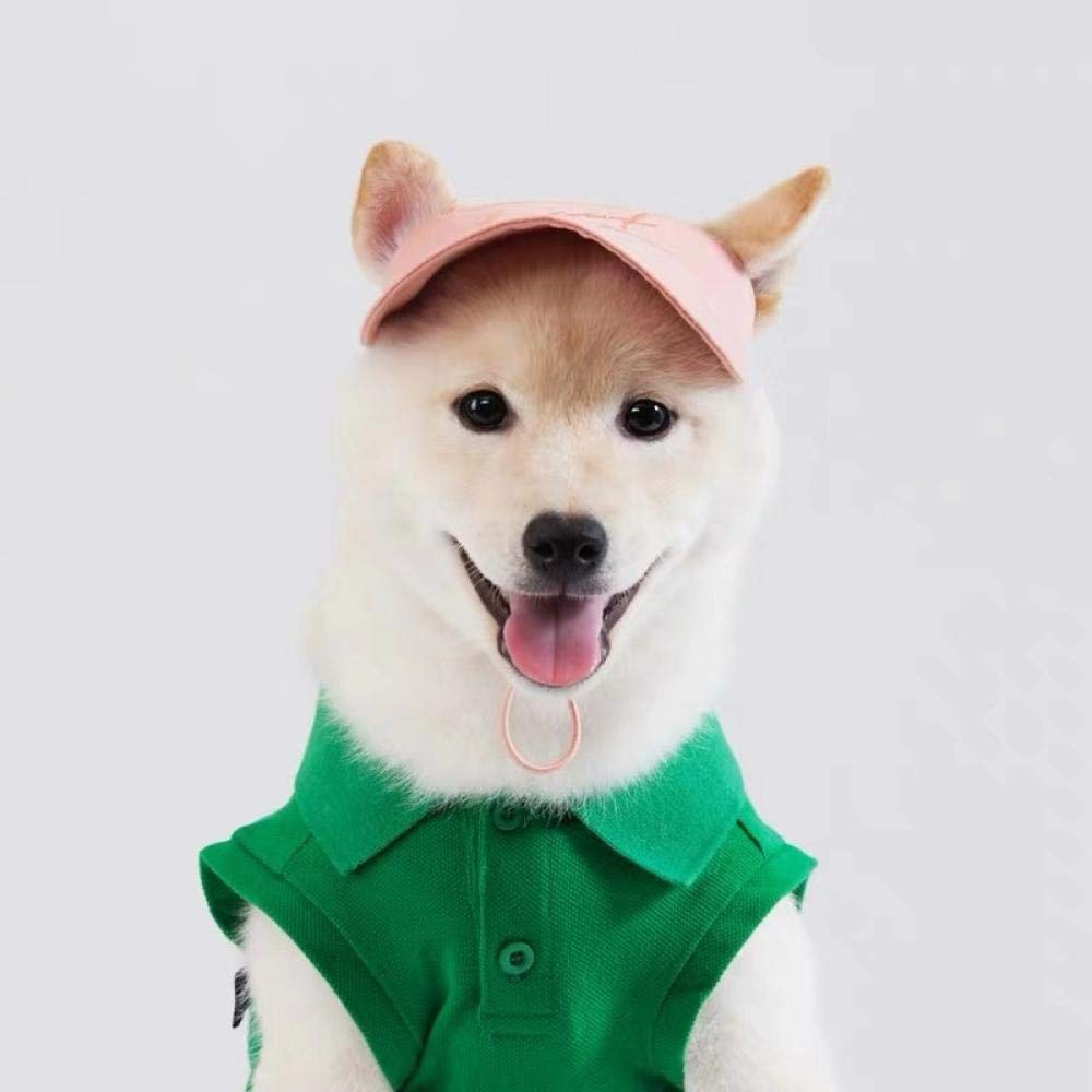 Embroidered baseball cap! Korea purchasing pet clothing pet hat Shiba Inu Akita clothes Baxi small shop@Pink – spot_M