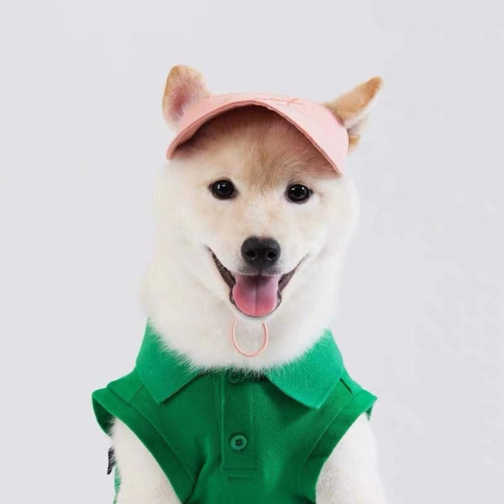 Embroidered baseball cap! Korea purchasing pet clothing pet hat Shiba Inu  Akita clothes Baxi small shop@Pink - spot_S - Dogs co uk