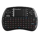 iPazzPort 2.4GHz Mini Tastatur Ergonomische tastatur mit touchpad und Ersatz Wiederaufladbare Li-ion Batterie für tastatur Smart TV, Raspberry Pi 3, PC fernbedienung