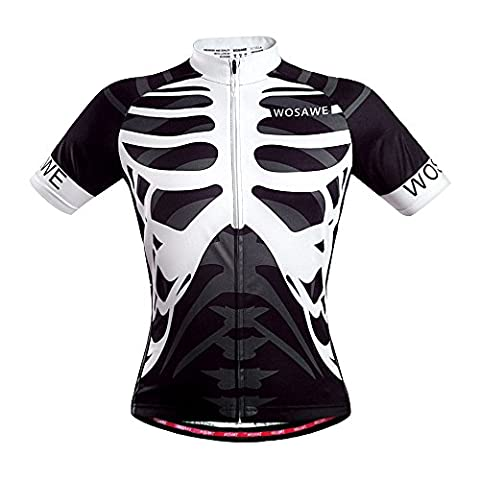Cool Summer Skull Cycling Jersey Top Shirt Bike Bicycle Racing