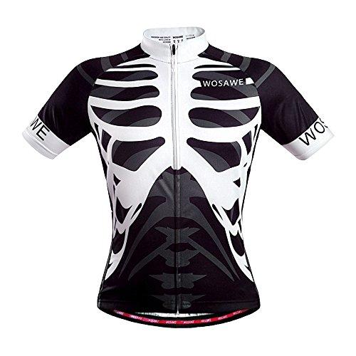 Cool Summer Skull Radfahren Jersey Top Shirt Bike Fahrrad Racing Sportswear Skelett Fashion brethable Dri Fit, unisex, L