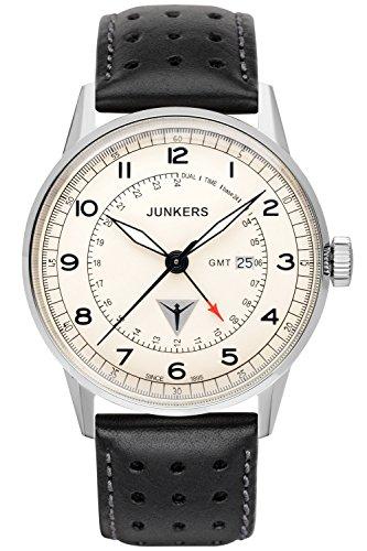 Junkers - 69465 - Montre Homme - Quartz - Analogique - Bracelet Cuir Noir