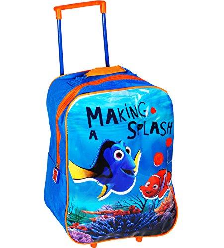 alles-meine.de GmbH Kinder Trolley -  Disney - Findet Nemo - Fisch Dory  - wasserabweisend & beschichtet - für Mädchen & Jungen - Trolly mit Rollen - Koffertrolley / Kindertrol..