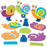 """Bastelset """"Rennschnecke"""" Zum Aufziehen für Kinder Zum Gestalten und Dekorieren – Kreatives Frühlings-Bastelset mit Moosgummi für Kinder (3 Stück)"""