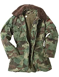 Genuine Serbian Army Camouflage Winter Lined Multipockets Parka - USED - GRADE 1