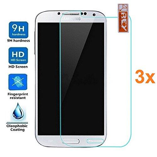 Pack 3X Pellicola salvaschermo per Samsung Galaxy Grand Neo Plus, Pellicole salvaschermo Vetro Temperato 9H+, di qualità Premium, Elettronica Rey