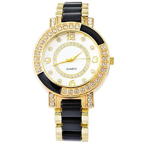 Souarts-Gold-Color-Ceramics-Rhinestone-Quartz-Wrist-Watch