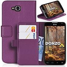 DONZO Wallet Structure Funda para LG L90 Dual violeta