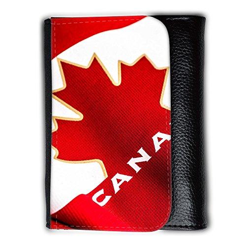 Portemonnaie Geldbörse Brieftasche // F00025973 Rote Kanada-Flagge // Medium Size Wallet