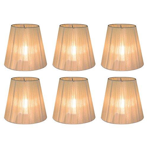 Eastlion 6 PC 9 * 14 * 13cm transparente Kerze Kronleuchter Lampenschirm Wand Lampe Anhänger Lampe...