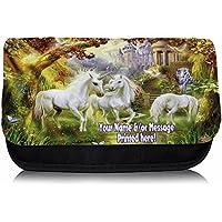 Personalised Unicorn Fantasy St706 Pencil Case / Make-up Bag / Glasses Medication Carrier