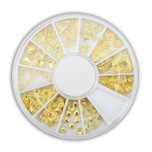 Beach-Time NailArt Overlays - Gold - Rad mit 12 Größen und Motiven -