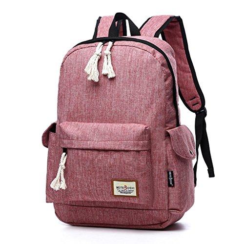 F@Nuove retrò ragazze zaini zaino esterno, sacchetto di spalla, zaino del computer , khaki Pink