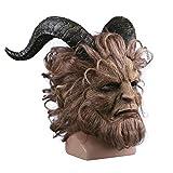 CYCG Halloween Horror Masken Grusel Maske,Film Beauty And The Beast Prinz Bestie Maske für Halloween-Kostüm-Party-Männer-Latex-Masken