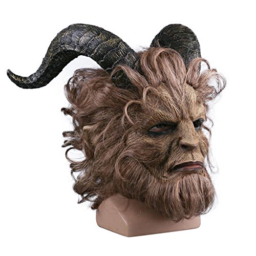 r Masken Grusel Maske,Film Beauty and The Beast Prinz Bestie Maske für Halloween-Kostüm-Party-Männer-Latex-Masken ()