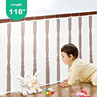 Child Safety Net, Safe Rail Net Security Guards for Balcony, Patios, Railing and Stairs- Thick Secure Stairs Protector for Kids Toys Pets