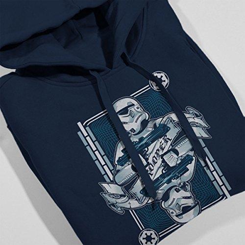 Star Wars Stormtrooper Women's Hooded Sweatshirt Navy Blue