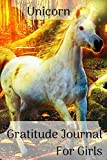 Gratitude journal for girls unicorn: 52 Week /1 Year Gratitude Journal, diary, notebook with 52 motivational quotes perfect for teen, young girls (6x9, blue with unicorn theme)