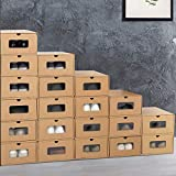 IDMarket - Lot de 20 boites de rangement à chaussures avec tiroir