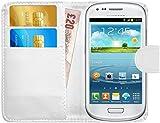 G-Shield Hülle für Samsung Galaxy S3 Mini Klapphülle mit Kartenfach (I8190) - Weiß