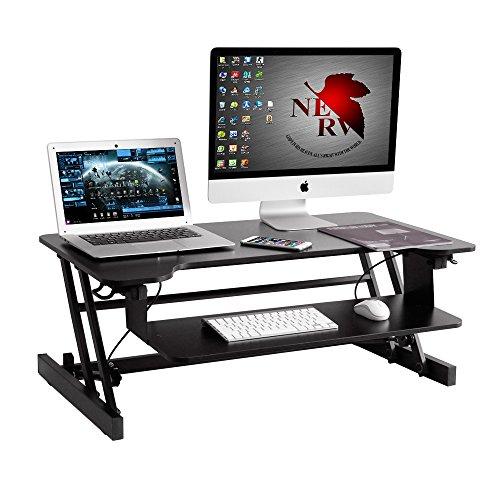 Soges saludable sentado y de pie Computadora de Escritorio Estación de trabajo | altura ajustable para estación de trabajo | Ancho: 94 cm ZHLB-2-NH-94