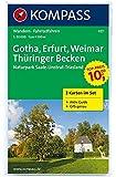 Gotha - Erfurt - Weimar - Thüringer Becken - Naturpark Saale-Unstrut-Triasland: Wanderkarten-Set mit Aktiv Guide in der Schutzhülle. GPS-genau. 1:50000 (KOMPASS-Wanderkarten, Band 457)