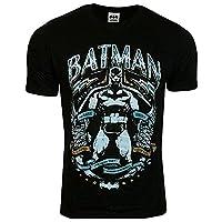 Mens Batman Black Retro Vintage Print T-shirt Size Medium DC Comics