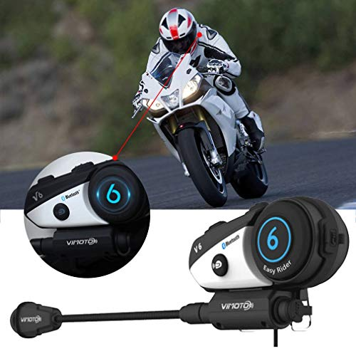 Cuffia casco nera Easy Rider Moto Vimoto V6 Cuffie stereo multifunzionali per telefono cellulare e radio Gps