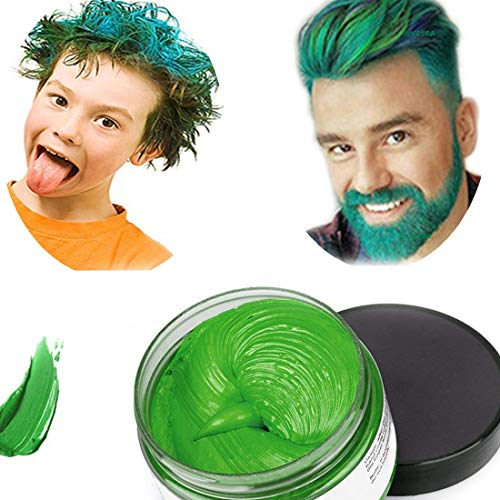 Hair Colour Cera, acconciatura opaca naturale per la festa.Cosplay, Halloween (verde)