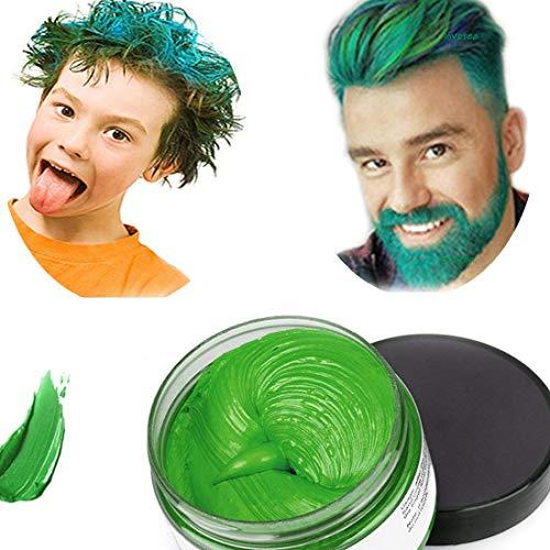 Hair colour cera, acconciatura opaca naturale per la festa.cosplay, halloween (verde)