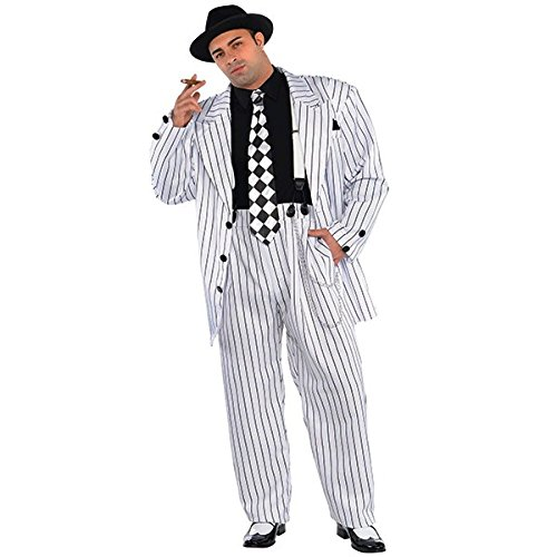 Nadelstreifen Gangster 20er Jahre Kostüm Herren Plus - Nadelstreifen Kostüm