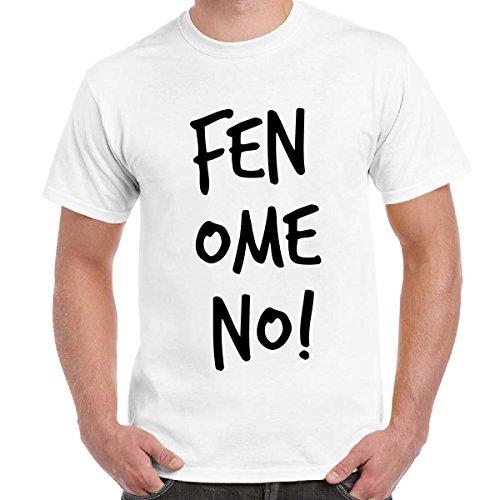 T-Shirt Divertente Uomo Maglietta Maniche Corte Cotone Con Stampa Fenomeno Linea Fun Basic, Colore: Bianco, Taglia: XL