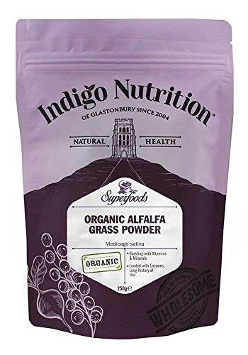 Indigo Herbs Organic Alfalfa Leaf Powder 250g (Medicago sativa) -