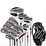 TIAO Carbon Golf Set Rod, Set Completo Maschile di Club, Pratica Asta principiante, Set Completo di Palla con 13 Rod con Borsa a Sfera