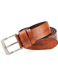 Ledergürtel mit PU, Jeansgürtel mit Prägung und Ziernaht Breite 3,8 cm, unisex, leicht kürzbar