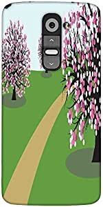 Snoogg Abstract Illustration Of A Background With Trees Designer Protective Back Case Cover For LG G2