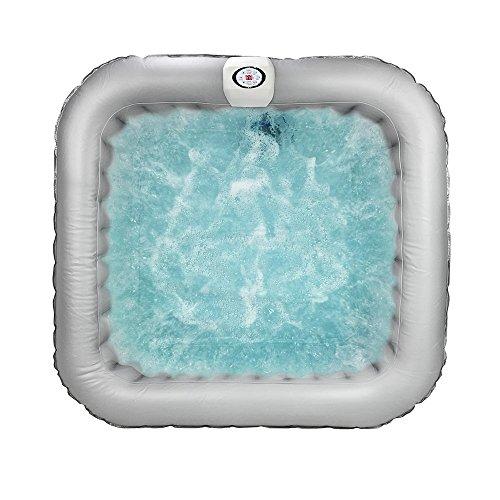 AQUAPARX Whirlpool AP-600SPA *rechteckig 155x155x65 cm* Pool Wellness Spa Whirlpoolzubehör Badewanne Wanne Indoor Outdoor Heizung aufblasbar - 4