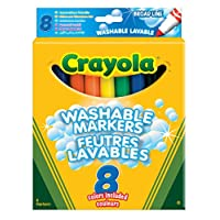 Crayola - 8 Broadline Washable Markers