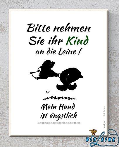 Keramik-Schild - Bitte nehmen sie ihr Kind - Wandbild mit Spruch- Hund -perfektes Geschenk für Freunde- Familie - Druck - Dekoration Handmade (Deco-keramik-fliese)