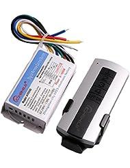 110V luz blanca lámpara de interruptor de control remoto inalámbrico digital y 4canal on/off